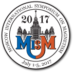 1-5 July 2017 / Moscow International Symposium on Magnetism (MISM-2017)